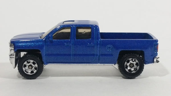 2014 Matchbox MBX Explorers 2014 Chevy Silverado 1500 Truck Blue Die Cast Toy Car Vehicle