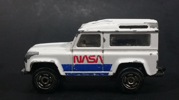 Majorette Land Rover NASA No. 266 National Aeronautics and Space Administration White Die Cast Toy Car Vehicle - Treasure Valley Antiques & Collectibles