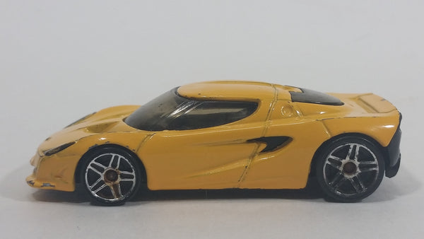 2001 Hot Wheels Lotus Project M250 Yellow Die Cast Toy Super Car Vehicle - Treasure Valley Antiques & Collectibles