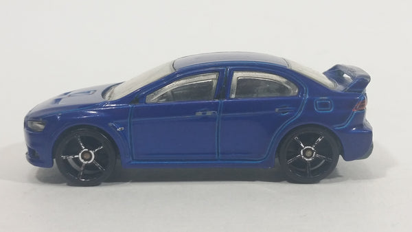 2008 Hot Wheels 2008 Lancer Evolution Blue Die Cast Toy Car Vehicle