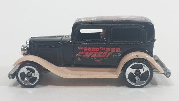 2002 Hot Wheels Wild Frontier '32 Ford Delivery Truck Black Die Cast Toy Car Vehicle Base Error Made in 198