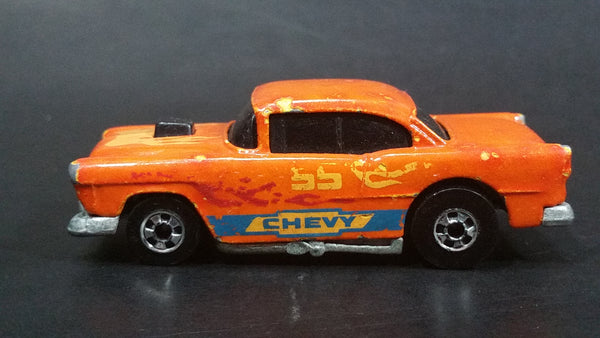 2001 Hot Wheels Final Run Color Racers '55 Chevy Orange Die Cast Toy Car Hot Rod Vehicle