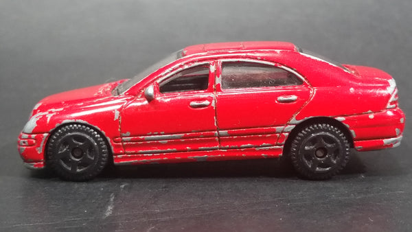 Motor Max Mercedes-Benz C Class Red No. 6066 Die Cast Toy Luxury Car Vehicle