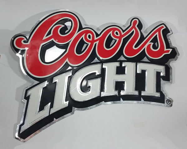 Coors Light Beer Embossed Metal Sign Wall Hanging Bar Pub Lounge Mancave Collectible - Treasure Valley Antiques & Collectibles