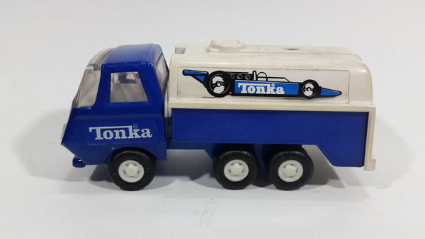 Rare Vintage 1979 Tonka Formula1 F1 Racing Fuel Gas Tanker Truck Blue White Pressed Steel Toy Car Vehicle