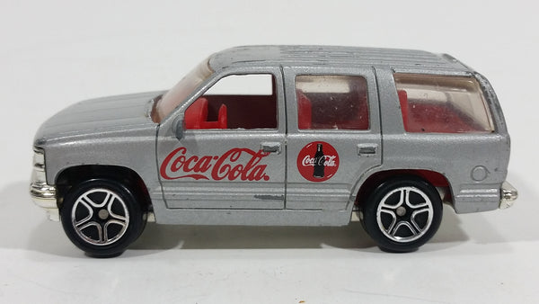 2001 Matchbox Coca-Cola Coke Soda Pop '97 Chevy Tahoe Silver Die Cast Toy SUV Car Vehicle