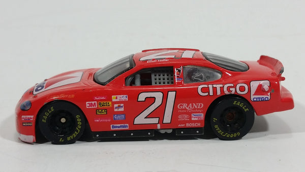 1998 Racing Champions Ford Taurus Nascar #21 Citgo Michael Waltrip Red Toy Race Car Vehicle 1:64 Scale