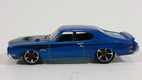 2010 Hot Wheels Muscle Mania '70 Buick GSX  Electric Blue Die Cast Toy Car Vehicle