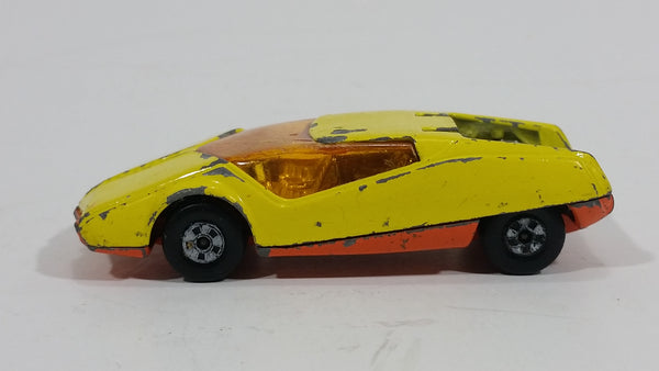1973 Lesney Products Matchbox Yellow Orange Superfast No. 33 Datsun 126X Toy Car Vehicle - Treasure Valley Antiques & Collectibles