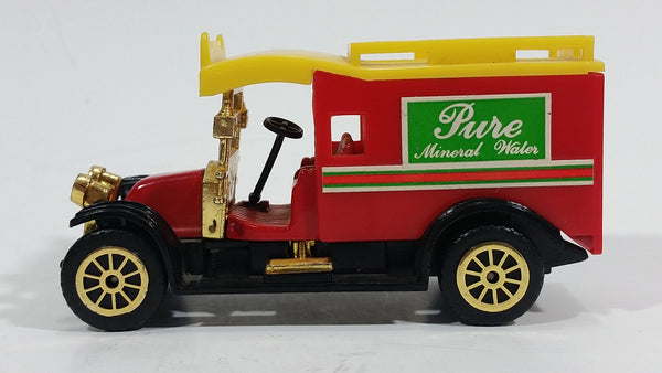 "Vintage Reader's Digest High Speed Corgi ""Pure Mineral Water"" Transport Truck Red Yellow No. 501 Classic Die Cast Toy Antique Car Delivery Vehicle"