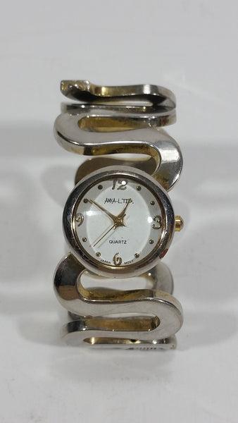 Anya Ltd Metal Bangle Style Japanese Movement Quartz Wrist Watch *Needs A Battery*