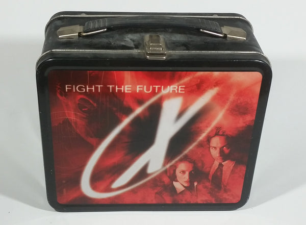 1998 The X-Files Television Show TV Series Scully & Mulder Black Lunch Box Collectible - Treasure Valley Antiques & Collectibles