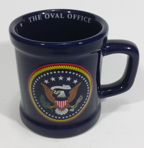 The White House Oval Office President of The United States Commander In Chief Dark Navy Blue Coffee Mug - Treasure Valley Antiques & Collectibles