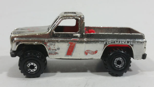 1995 Hot Wheels Racing Metals Bywayman Chevy Chevrolet Truck Chrome Die Cast Toy Car Vehicle - Treasure Valley Antiques & Collectibles