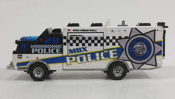 Rare HTF Matchbox E-One Mobile Command Vehicle Police Surveillance Truck White Die Cast Toy Vehicle - Treasure Valley Antiques & Collectibles