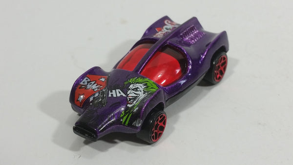 2004 Hot Wheels Batman Speed Machine The Joker Dark Purple Die Cast Toy Car Vehicle