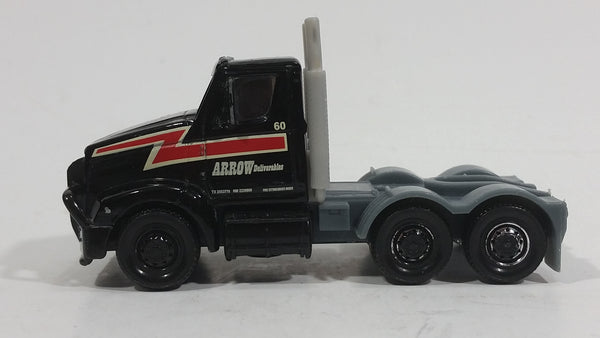 Hard to find 2009 Matchbox Semi Tractor Arrow Deliverables Truck Black Die Cast Toy Car Rig Vehicle - Treasure Valley Antiques & Collectibles