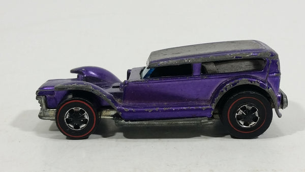 Rare HTF 1970 Hot Wheels The Demon Spectraflame Purple Red Lines Die Cast Toy Car Vehicle Hong Kong - Treasure Valley Antiques & Collectibles