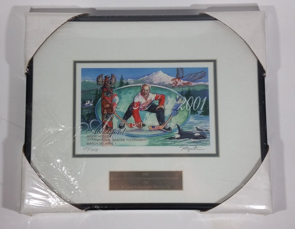 Rare 2001 Gordie Howe Mr. and Mrs. Hockey International Bantam Tournament Abbotsford, B.C.  Signed and Numbered Print by Jan Poynter