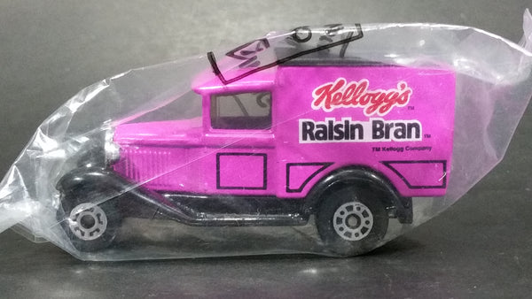 1998 Matchbox Model A Ford Kellogg's Raisin Bran Cereal Purple Die Cast Toy Classic Antique Car Delivery Vehicle New, Still sealed in Package