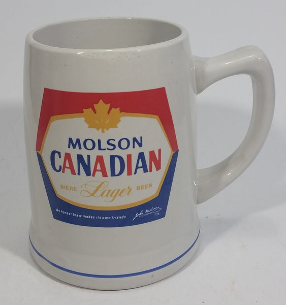 Vintage Heritage Arts China (Korea) Molson Canadian Beer Stoneware Stein - Decorated in Canada - Treasure Valley Antiques & Collectibles