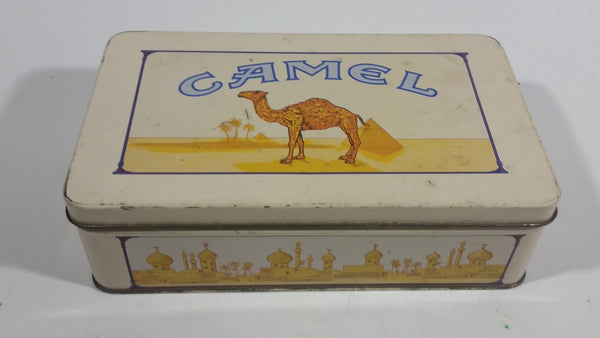 1992 Camel Cigarettes Smokes Book Matches Hinged Tin Metal Container Tobacco Collectible - EMPTY