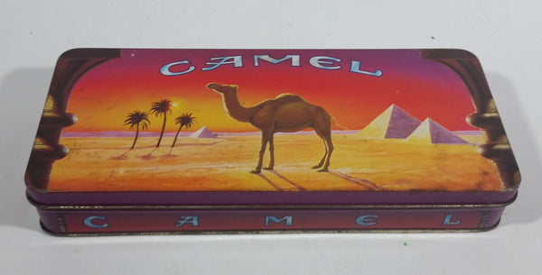 1993 Camel Cigarettes Smokes Book Matches Colorful Sunset Hinged Tin Metal Container Tobacco Collectible - EMPTY - Treasure Valley Antiques & Collectibles