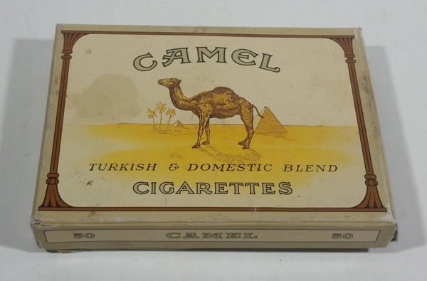 Vintage Camel Turkish & Domestic Blend 50 Cigarettes Paper Smoke Package Tobacciana Collectible