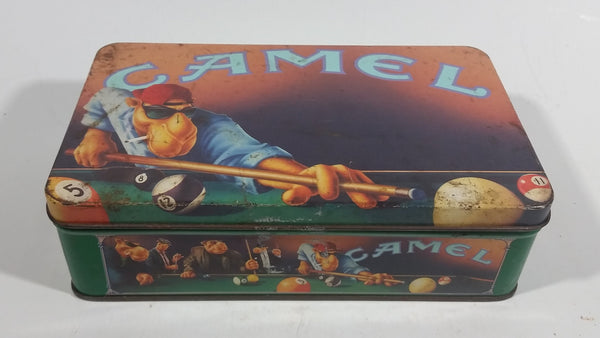 1992 Camel Joe's Cigarettes Smokes Billiards Pool Hinged Tin Metal Container Tobacco Collectible