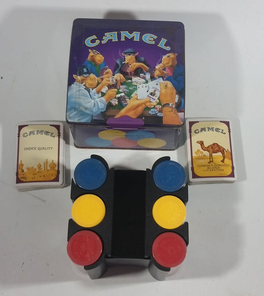 1994 Camel Tobacco Smokes Cigarettes Poker Chip Set In Tin - Smoking Collectible - Treasure Valley Antiques & Collectibles