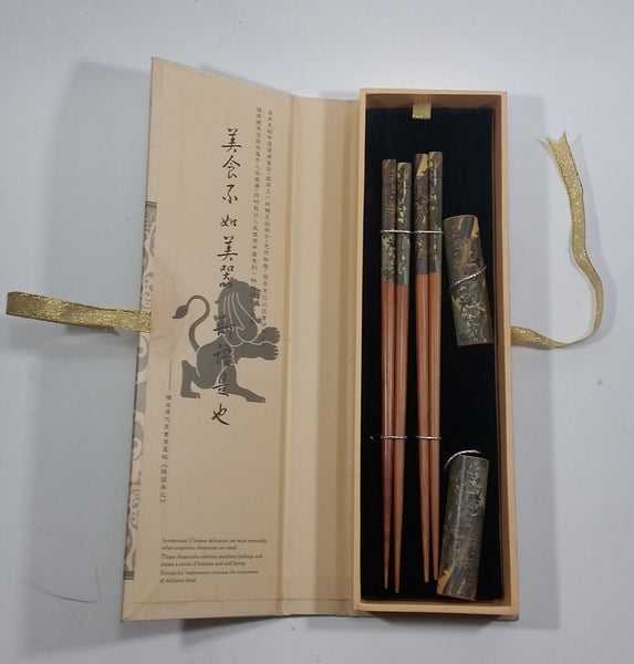 "Maxwell Williams Shanghai Chic Dragon 9"" Chopsticks in Box - Treasure Valley Antiques & Collectibles"
