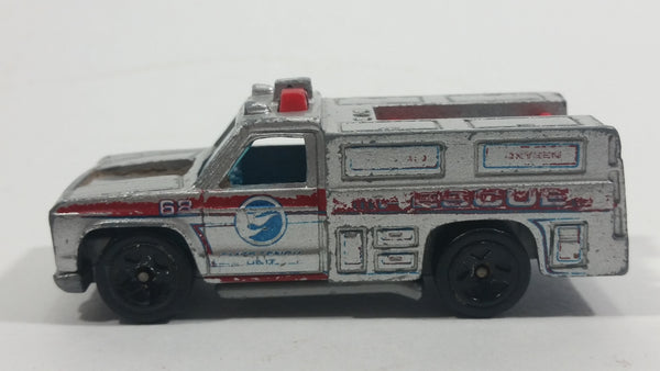 2008 Hot Wheels Rescue Rods Rescue Ranger Truck Silver Grey Die Cast Toy Car Vehicle - Treasure Valley Antiques & Collectibles