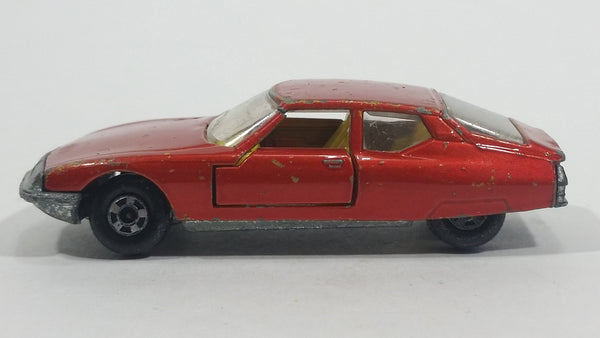 Vintage 1971 Lesney Products Matchbox Superfast Citroen S.M. No. 51 Amber Orange Red Die Cast Toy Car Vehicle with Opening Doors - Treasure Valley Antiques & Collectibles