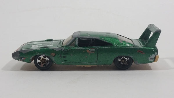 1998 Hot Wheels Flyin' Aces Dodge Charger Daytona Green Die Cast Toy Muscle Car Vehicle