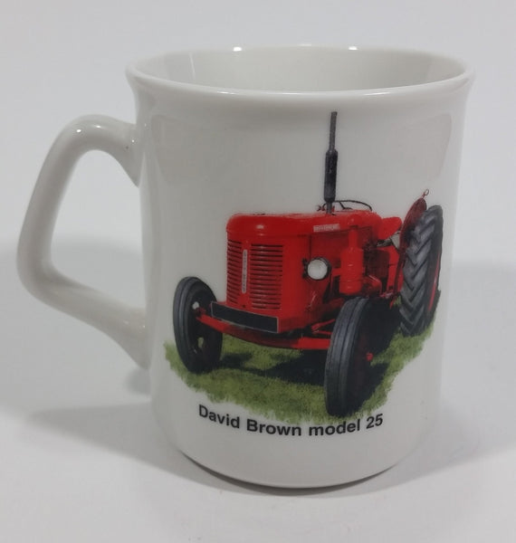 "David Brown Model 25 Tractor ""Today is the tomorrow you worried about Yesterday!"" White Ceramic Coffee Mug Farming Collectible - Treasure Valley Antiques & Collectibles"
