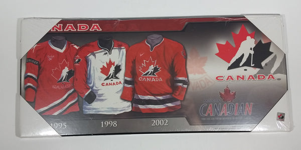 Molson Canadian Hockey Canada Team Jersey History Wall Plaque Board - New - Treasure Valley Antiques & Collectibles