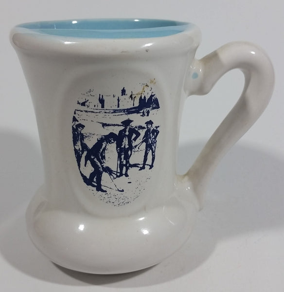 Vintage Export 'A' Kings Tobacco Golf Golfing 1 Under Coupe Cup Ceramic Cigarette Smoke Mustache Mug Sports Tobacciana Collectible - Treasure Valley Antiques & Collectibles