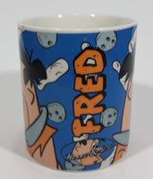 1993 MSC China Hanna Barbera The Flintstones Fred Flintstone Cartoon Character Ceramic Coffee Mug Television Collectible
