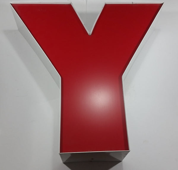 "Large 18 1/2"" Tall Letter Y Store Name Advertisement Sign"