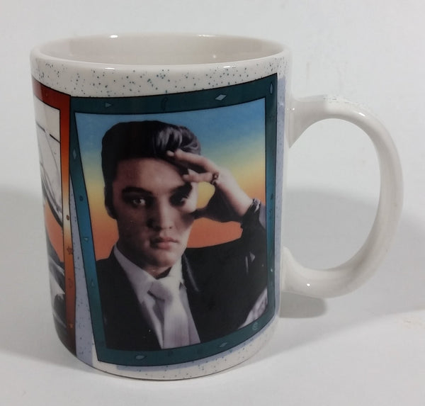 2001 Elvis Presley Aviation and Drinking Soda Pop Ceramic Coffee Mug Collectible The Wertheimer Collection