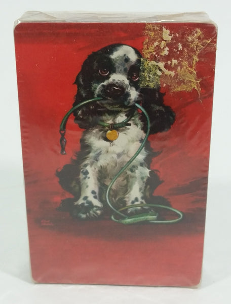 Vintage Stardust Plastic Coast with Nu-Vue Tint Cocker Spaniel Puppy Dog Playing Cards Still Sealed in Package - Treasure Valley Antiques & Collectibles