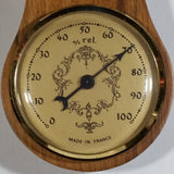 Vintage Fisher Nautical Style Wooden Barometer Weather Station