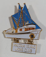 Beautiful Vintage Malcolm Island Lions Club Ship Pin