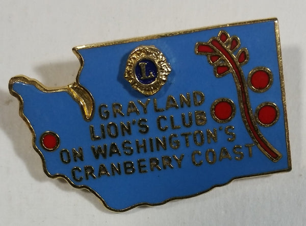 Vintage Grayland Lions Club On Washington's Cranberry Coast Lion's Club Pin