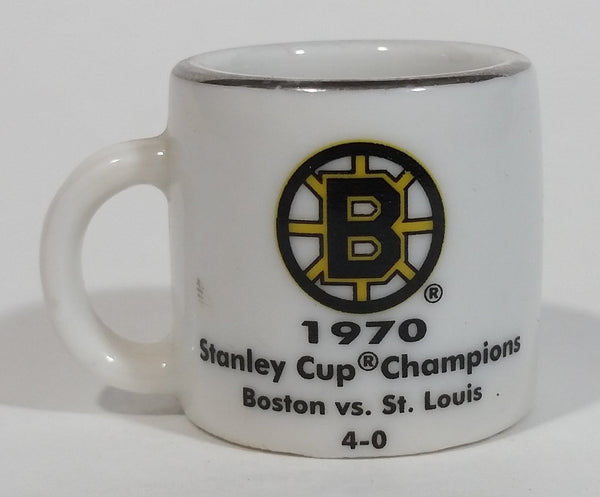 NHL Stanley Cup Crazy Mini Mug Boston Bruins 1970 Champs W/ Opponent & Score - Treasure Valley Antiques & Collectibles