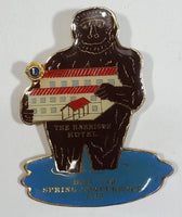 Vintage The Harrison Hotel Sasquatch Lions Club Spring Conference Pin 1989 - Treasure Valley Antiques & Collectibles
