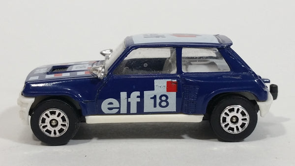Vintage 1984 Corgi Renault 5 Turbo Elf Blue and White Die Cast Toy Car Vehicle