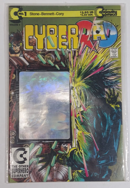 1992 Continuity Comics CyberRad No. 1 Volume 2 Comic Book Near Mint