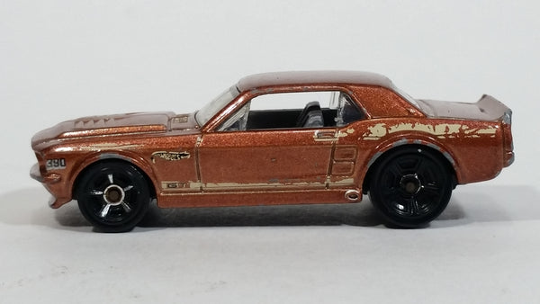 2012 Hot Wheels Muscle Mania '67 Ford Mustang GT Metallic Brown Die Cast Toy Muscle Car Vehicle