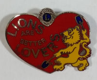 Vintage Lions Are Better Lovers Heart Shaped Lions Club Pin